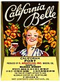 Wine label, K. Arakelian Inc., California Belle, California Port, Madera Winery.jpg