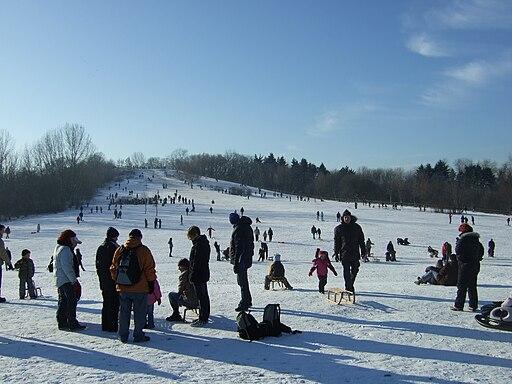 Winter im Volkspark Prenzlauer Berg