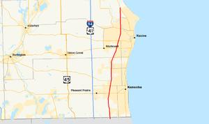 Wisconsin Highway 31 - Image: Wis 31 map