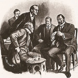 The Adventure of Wisteria Lodge - Eccles, Holmes and Inspector Baynes.
