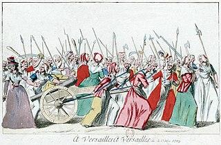 Marcha de las mujeres sobre el Palacio de Versalles en 1789