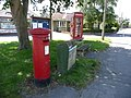 Wool, postbox No. BH20 146 and phone, Dorchester Road - geograph.org.uk - 1415383.jpg