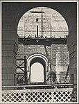 Workers cleaning granite pylons on the Harbour Bridge, 1932 (8283774696).jpg