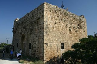 A crusader keep in a small Syrian village