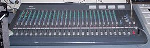 Mixing console - Yamaha 2403 audio mixing console in a 'live' mixing application