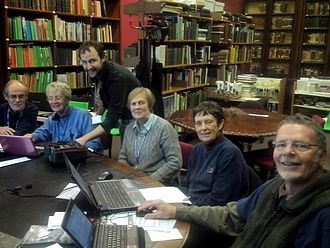 Yorkshire Philosophical Society - Yorkshire Philosophical Society volunteers working in the historic library of the Yorkshire Museum in 2013