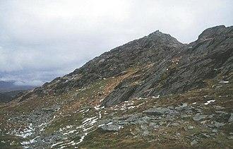 Ysgafell Wen North Top - Ysgafell Wen North Top summit