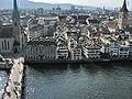 Zürich - Fraumünster - Lindenhofquartier - St Peter - Sicht vom Grossmünster Karlsturm IMG 6414.JPG