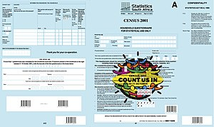 South African National Census of 2001 - Questionnaire A