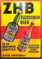 ZHB Flesschen bier enamel advertising sign.JPG