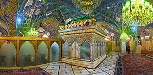 Zarih - Zarih of Sukayna bint Husayn, in the Sayyidah Ruqayya Mosque