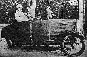 Engelbert Zaschka - Folding City Car: Zaschka Three-wheeled car, 1929