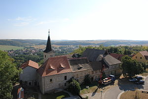 Zscheiplitz - View of the castle from the water tower