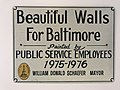 """""""Beautiful Walls For Baltimore"""" sign displayed at BOPA offices, 10 E. Baltimore Street, Baltimore, MD 21224 (46718706142).jpg"""