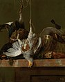 'A Still Life with Dead Partridge, Pheasant, and Hunting Gear' by Hendrick de Fromantiou, 1670.jpg