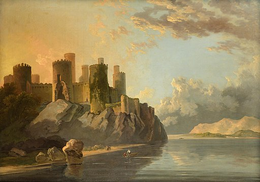 'Conway Castle, Wales' by William Hodges, c 1790