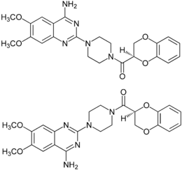 (±)-Doxazosin Structural Formulae.png