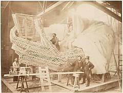 (Construction of the skeleton and plaster surface of the lef - (3109310931).jpg