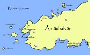 årnäshalvön karta Årnäshalvön – Wikipedia årnäshalvön karta