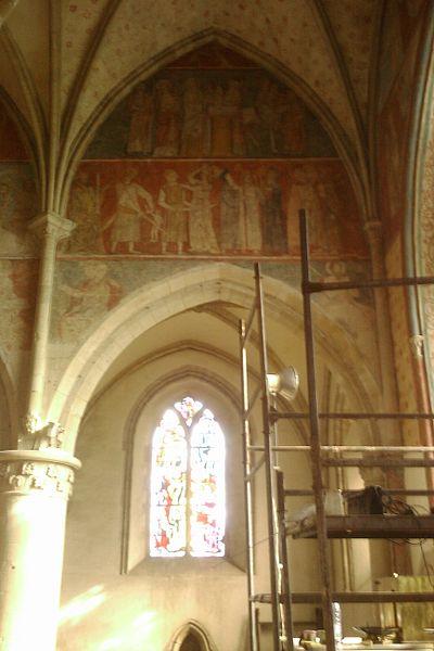 Peintures murales du 14e siècle de l'Église de fr:Marchésieux