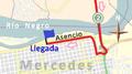 Últimos kilómetros de la tercera etapa de la Vuelta Ciclista Chaná 2015.png
