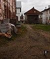 Вид с запада. Слева голая стена Иконописной палаты, за ней Чоботная, вдали башня Пристенка. Слева Наместнический корпус.jpg