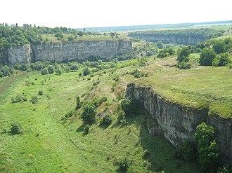 Podilski Tovtry National Nature Park - Image: Каньйон Смотрича