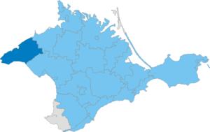 Chornomorske Raion - Image: Карта схема Крыма Черноморский район