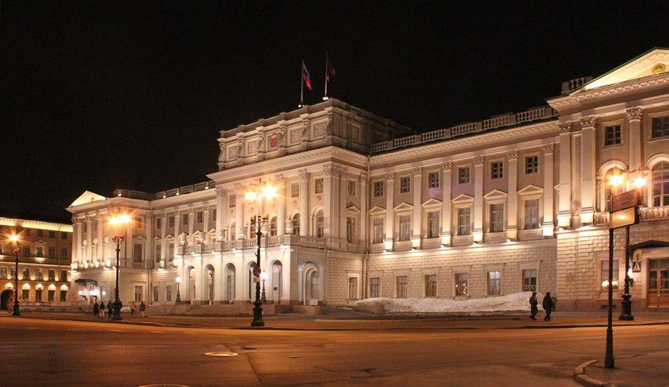 Мариинский дворец ночью, 2011