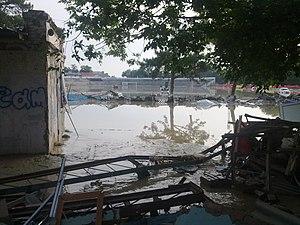 2012 Krasnodar Krai floods - Flooded stadium of FC Vityaz Krymsk.