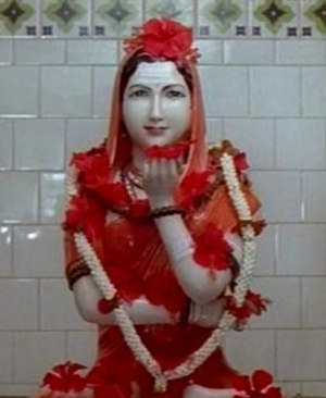 Akka Mahadevi - A murti of Akka Mahadevi consecrated in temple at her birthplace, Udathadi