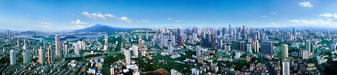 A panoramic view of Nanjing in 2005