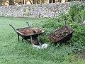 -2020-11-06 Rusting wheelbarrows, churchyard, St Bartholomew's, Hanworth, Norfolk.JPG