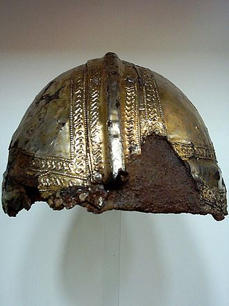 Prince-Bishopric of Augsburg - Roman helm from the Roman museum in the cloister of Dominican Order in Augsburg.