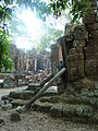 043 Banteay Kdei Temple Propped-up Wall.jpg