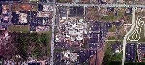 2011 Joplin tornado - Aerial view of the St. John's Regional Medical Center campus