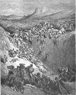 English: Samson Destroys the Philistines with ...