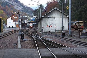 Waldenburg railway - Terminus at Waldenburg