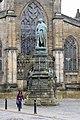1. Statue of Walter Montagu Douglas Scott, 5th Duke of Buccleuch, Edinburgh, Scotland, UK. By J. Edgar Bohem, 1888. St. Giles' Cathedral appears in the background.jpg