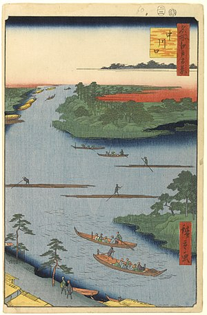 Naka River (Saitama Tokyo) - Nakagawa in the Edo period