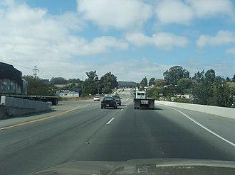 Prunedale, California - Image: 101 through Prunedale