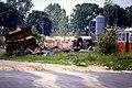 119R33030684 HW Simmering, Schrottgleis, ausgebrannte Typ T2 03.06.1984.jpg