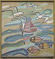 1200 Stromstraße 47-49 Vorgartenstraße - Otto Gratzl-Hof - Wandmosaik Fische, Boje, Vögel von Franz Elsner 1955 IMG 8822-2.jpg