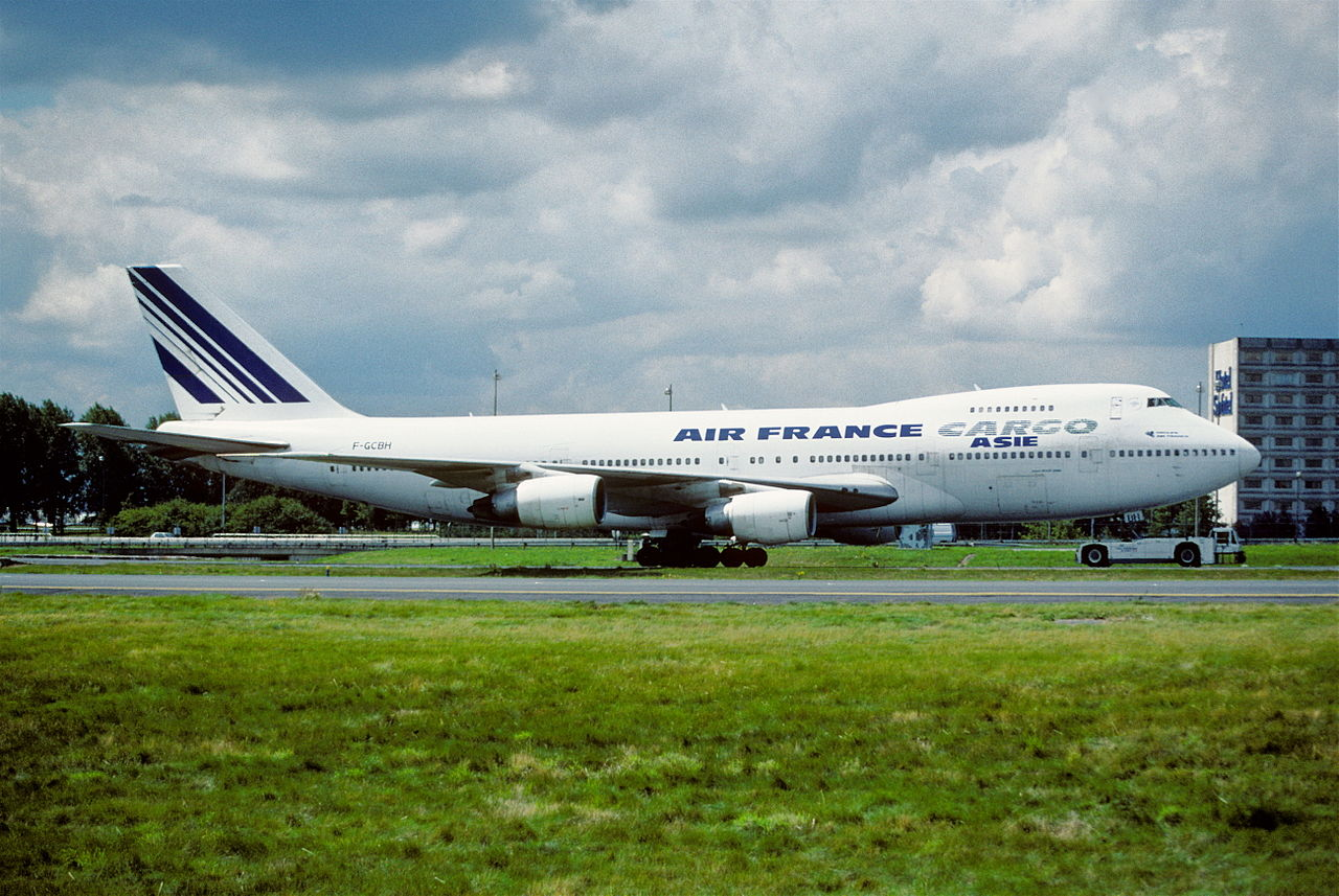 File 144dt air france cargo boeing 747 200f f gcbh cdg for Interieur 747 air france