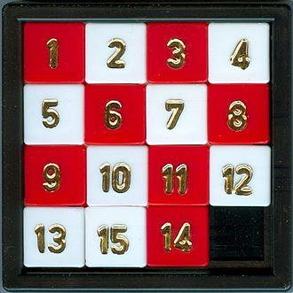 Sliding puzzle - A sliding 15-puzzle