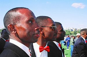 Million Man March - Members of the Nation of Islam at the march
