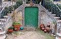 150 Casa Joan Colom, portella del jardí (la Garriga).JPG