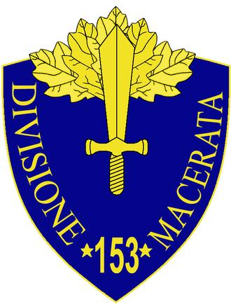 153rd Infantry Division Macerata - 153rd Infantry Division Macerata Insignia