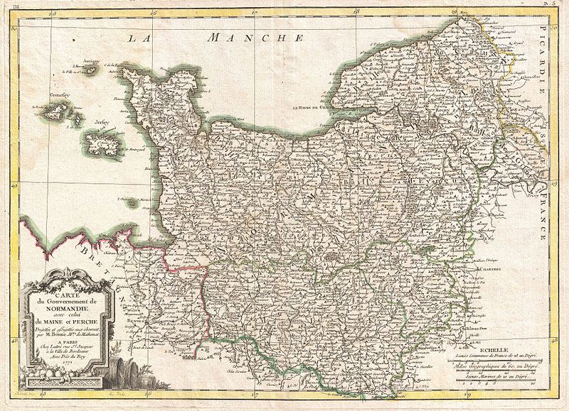 File:1771 Bonne Map of Normandy, France - Geographicus - Normandie-bonne-1771.jpg