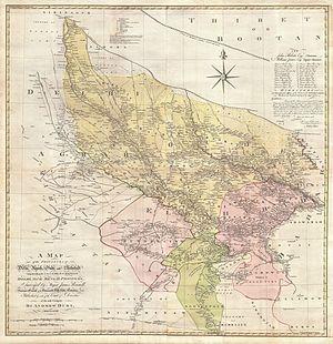 Almora - Almora in the 1777 map of Delhi and Agra